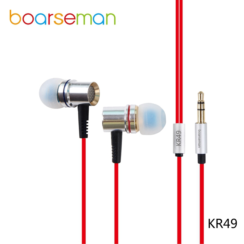 Original Boarseman KR49 In Ear Earphone HiFi Dynamic Music Earbuds Bass Earphone for iphone 6 for Samsung s7 for xiaomi phones мужские сумки
