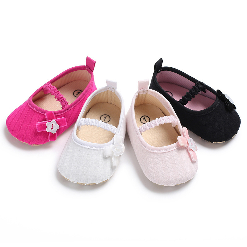 2018 Spring New Baby Girls First Walkers Cute Flower Infant Baby Princess Crib Shoes