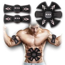 Portable Muscle Stimulator Smart Rechargeable Fitness Machine Abdominal Exerciser Training Device Body Building Tool