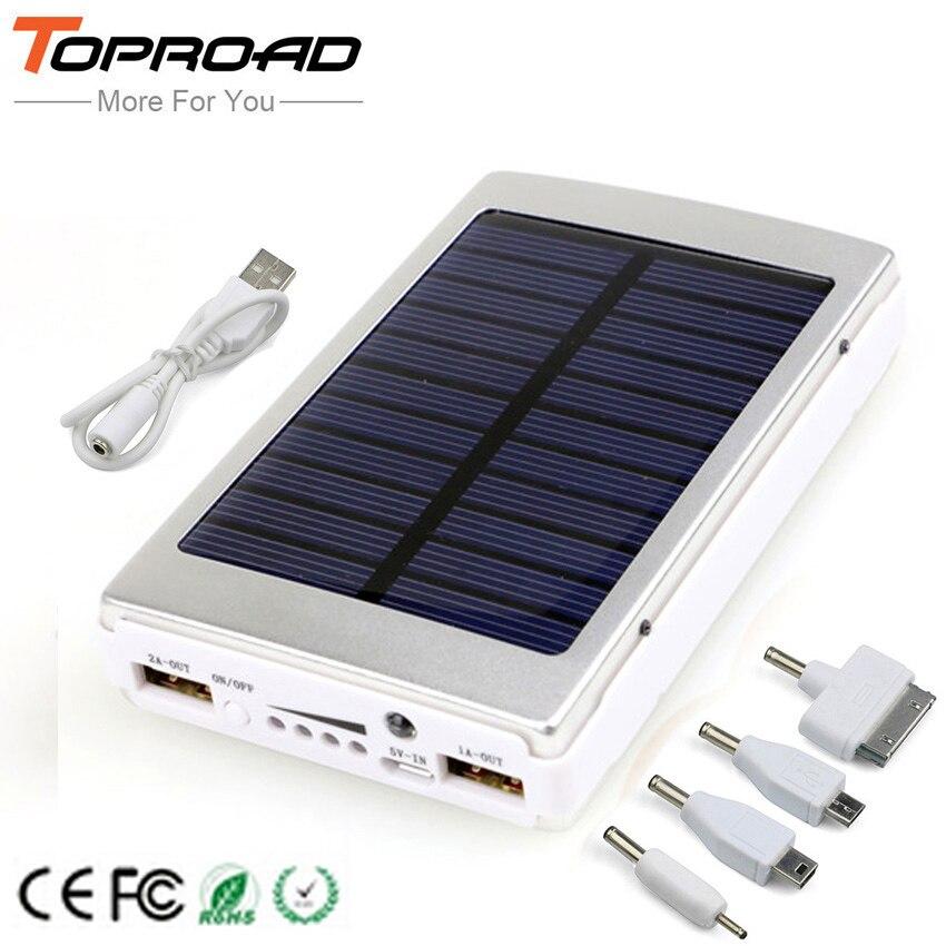 imágenes para Cargador solar power bank 12000 mah batería externa powerbank de carga portátil cargadores de bateria para iphone teléfonos móviles