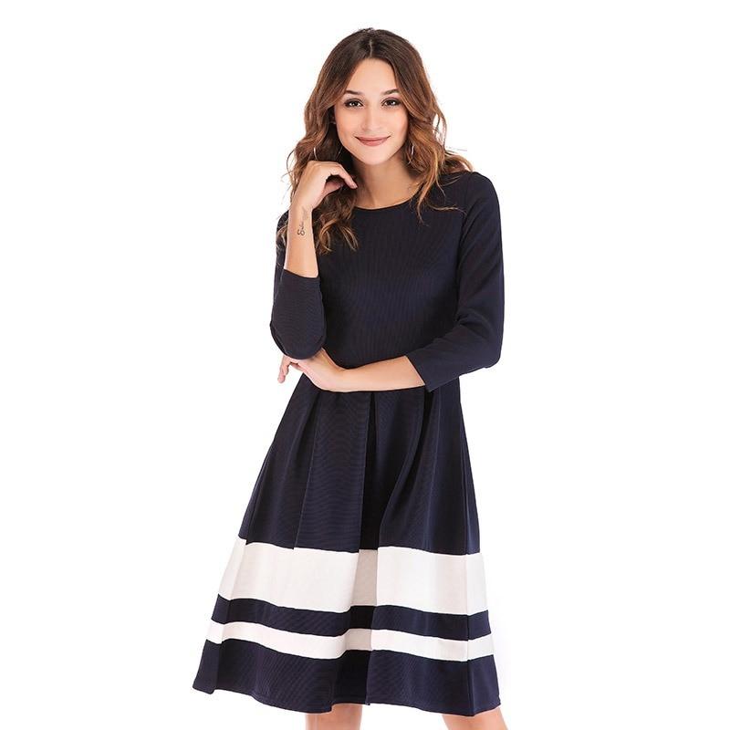 66433aa6a9 Nowe mody kobiety V Neck z długim rękawem sukienki jesień zima Femme Sexy  podziel sukienka w