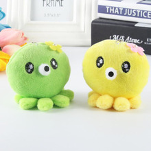 7CM Filled Plush Animal Octopus Toy Doll Student Bag Hanging Ornaments Marine Toys Childrens Gift