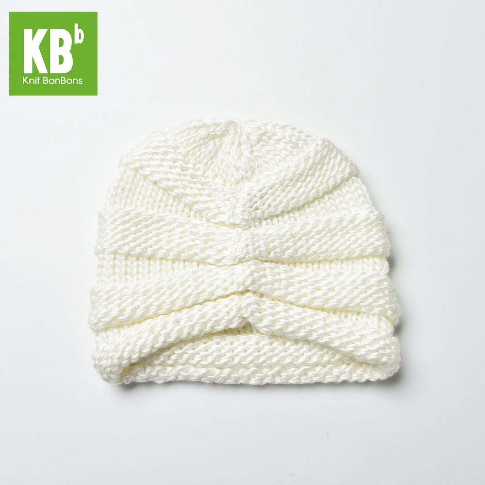2017 KBB Spring    Comfy Kawaii White Ridged Pattern Designe Yarn Knit Women Lady Delicate Winter Hat Beanie Female Cap