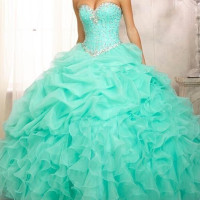 HSDYQHOME IN Stock Mint Green Quinceanera Dresses Crystal Sweetheart Gorgeous Ball Gown vestidos de 15 anos cheap quinceanera