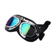 1Pcs Scooter Pilot font b Goggles b font Helmet Vintage Anti UV Motorcycle Helmet glasses font