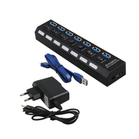 2016NEW USB HUB 3 0 Super Speed 5Gbps 7 Ports USB 3 0 HUB USB Splitter