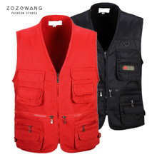 zozowang Outdoors Tactical  Vest Men Breathable Shooting Multi Pockets Vest Shooting Waistcoat Sleeveless Jacket Military Coat zuoxiangru hiking tactical vest fishing vest men s m 6xl multi pockets photography jacket camping multi pockets hunting vest