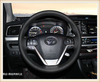 HOT SALE DIY car handmade sewing Steering wheel cover Fit for 2015 Toyota Highlander