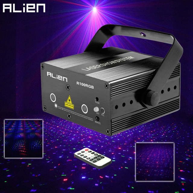 Us 67 99 32 Off Alien Mini Rgb Star Dot Laser Light Projector Stage Lighting Effect Dj Disco Party Christmas Music Show Lights With Ir Remote In