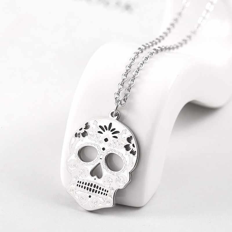 8e4abf1aa ... RIR Sugar Skull Necklace Skull Statement Necklace Day Of The Dead Dia  De Los Muertos Mexican ...