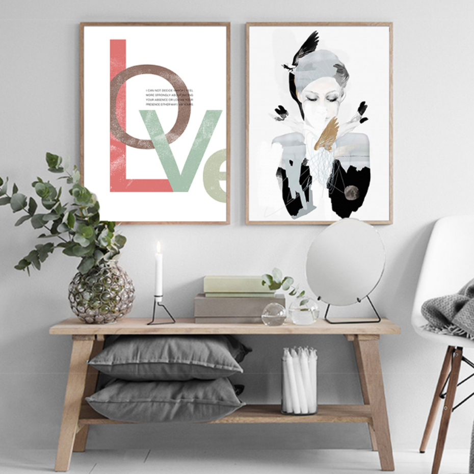 popular wall pictures for living room black love art buy cheap modern abstract love canvas paintings landscape nordic black and white poster print wall art pictures for