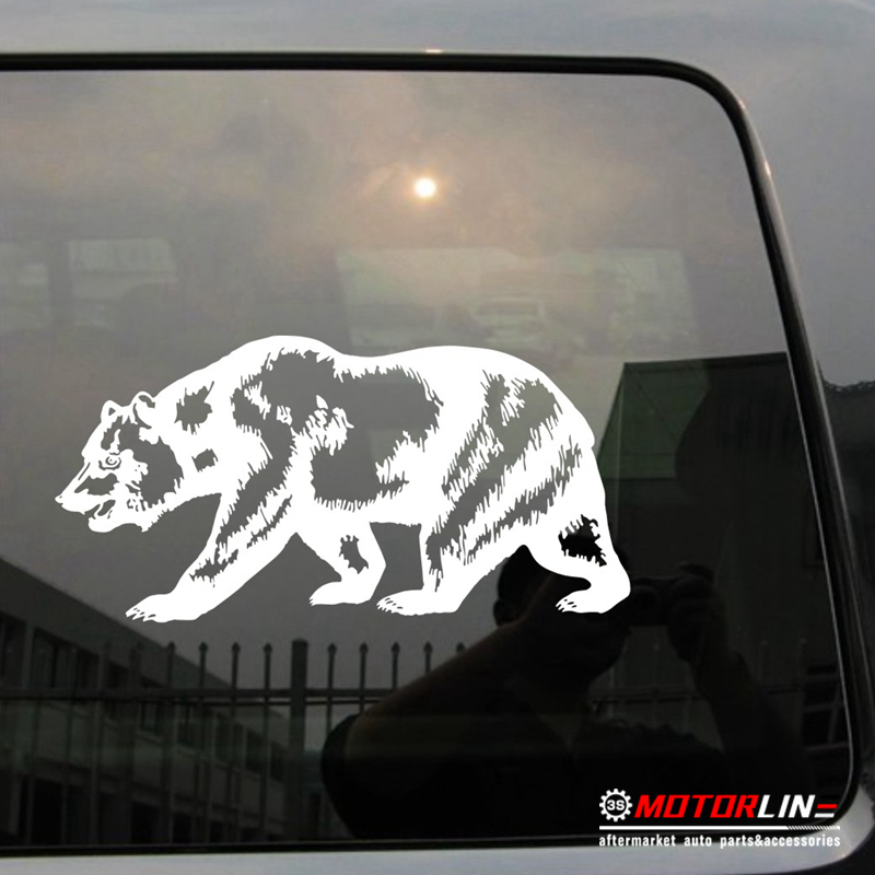 California Bear Decal Sticker Cali Car Vinyl pick size color Californian Flag  no background