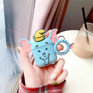 Image 2 - 3D Cartoon Dumbo silicone airpods case for Apple Airpods1/2 Wireless Bluetooth Charging Headphones Earphone Protective Box Cover