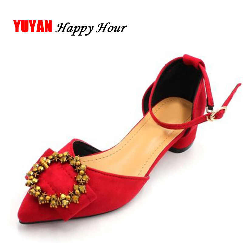 9116a51208b Sexy Square Heel Women Spring Summer Heeled Shoes Pointed toe ...