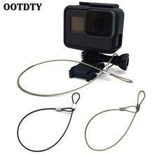 OOTDTY ремень безопасности из нержавеющей стали троса ремешок на запястье 30 см для GoPro камеры