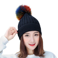 ChamsGend 2017 מכירה חמה אופנה חדשה לנשים חמים בבאגי Weave הסרוגה לסרוג סקי כפת Caps כובע צמר בחורף Dropship 171020