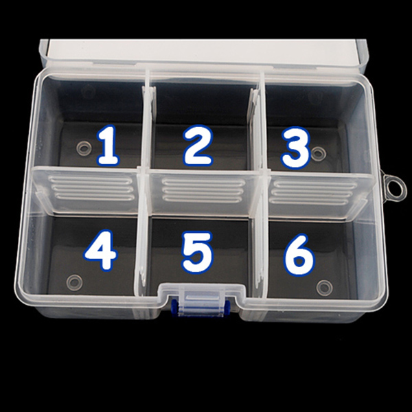 High quality clear 6 compartments portable home container for Quality craft tool box