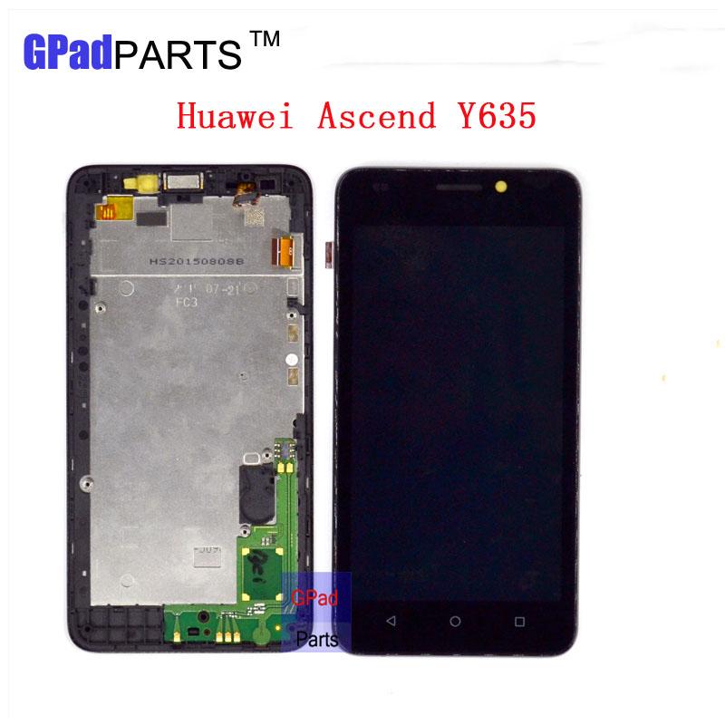 Prix pour Remplacement Y635 lcd Pour HuaWei Y635 Lcd Écran Affichage + Écran tactile Digitizer Assemblée avec Cadre + petites pièces de haute qualité