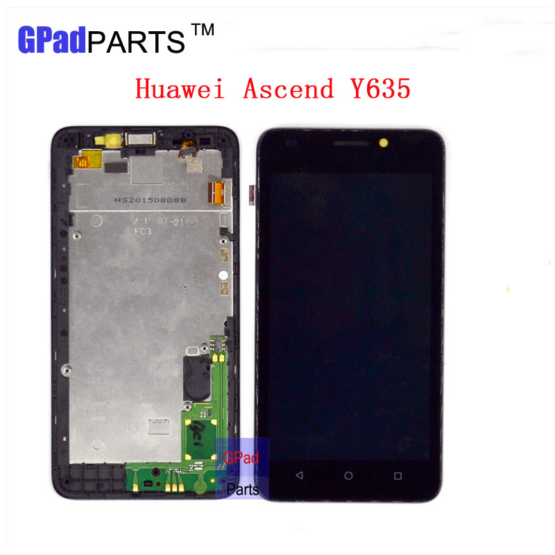 Replacement Y635 lcd For HuaWei Y635 Lcd Screen Display + Touch Screen Digitizer Assembly with Frame + small parts high quality lcd screen assembly for apple iphone 4 4g lcd display touch screen digitizer pantalla with frame bezel replacement black white