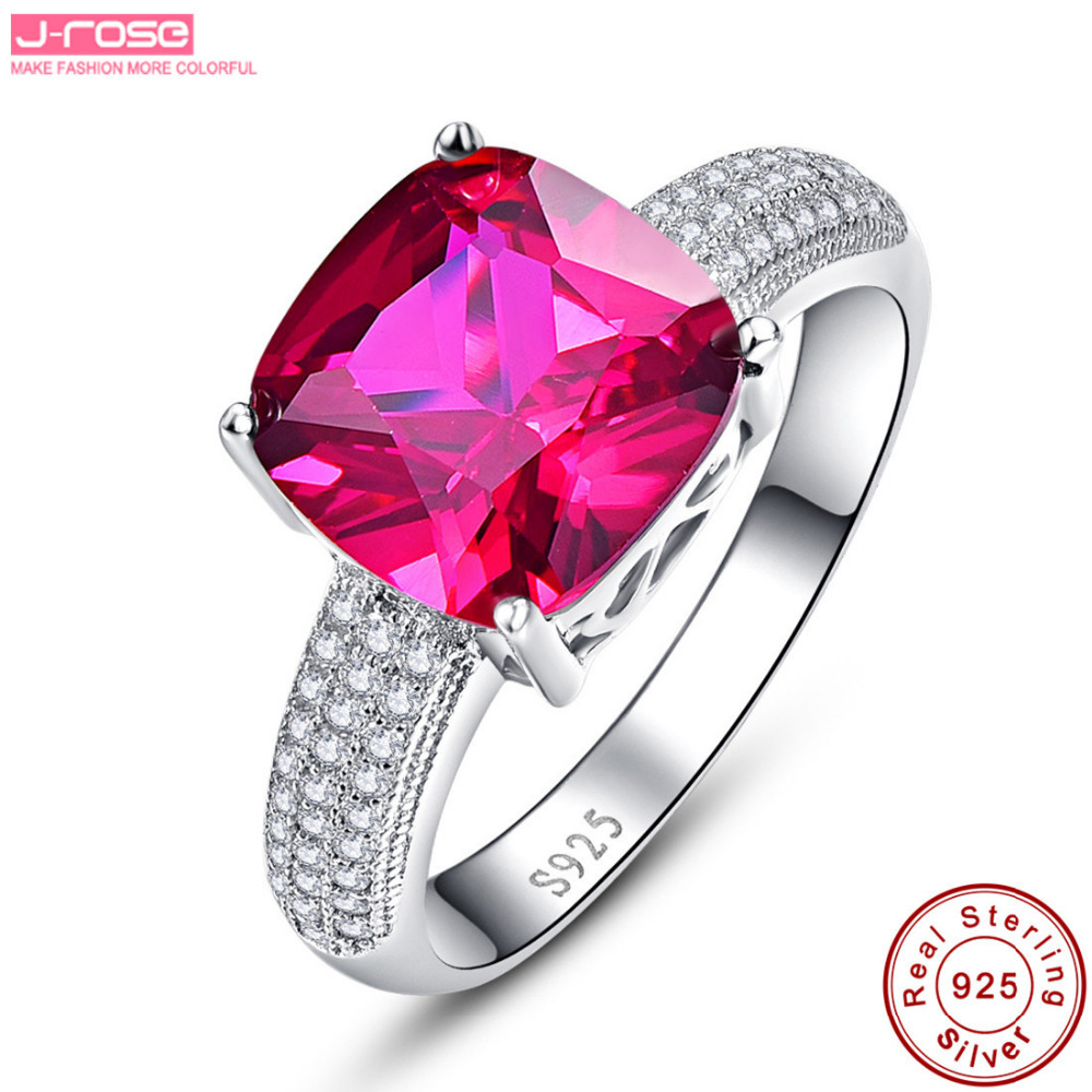 Hot Jrose 5.1CT AAA Wedding Ring Female 100% Solid Sterling Silver ...