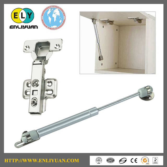 High Quality  One Set Cabinet Door Hardware Accessories Cabinet Hinge and Cabinet Gas Spring