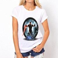 Topjini New Arrival 2017 Summer Women O-neck Fashion T-shirt Female Star Wars Print T-shirt Plus Size Short Sleeve 6XL T-shirts
