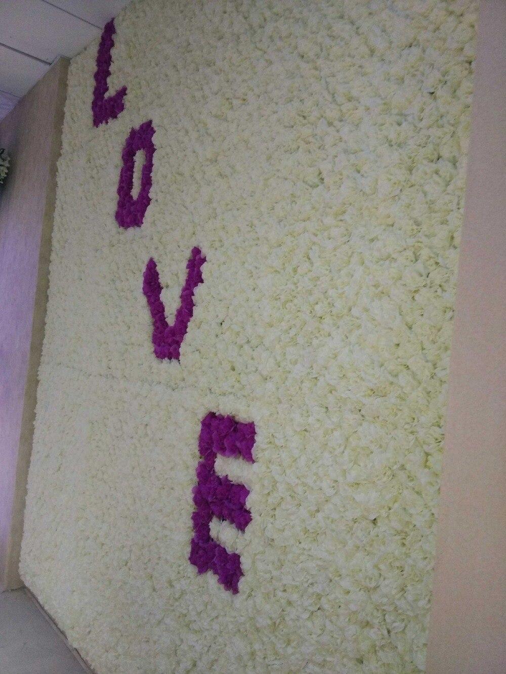 இ10 unids/lote seda artificial Rosa flor pared de la boda de fondo ...