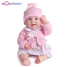 WOWCHEER 17 42cm Handmade Silicone Vinyl Adorable Lifelike Reborn Baby Dolls Toddler Bonecas Girls Children Pretend Play Toys