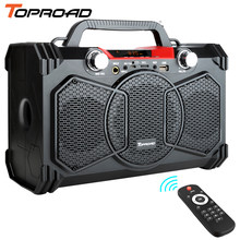 Toproad 30 W Bluetooth Speaker Portable Nirkabel Subwoofer Berat Bass Speaker Kotak Suara Mendukung Remote Control FM MIC TF AUX USB(China)