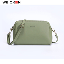Weichen 2019 Small Shoulder Bags Women Fashion Female Crossbody Bags Pu Leather Women Messenger Bags Zipper Casual Pink Color pink pu zip design shoulder bags