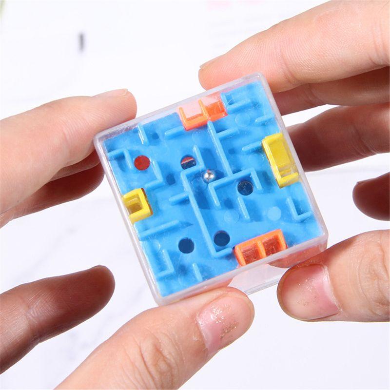 3 Colors Puzzle Maze Toy Brain Game Challenge Fidget Toys Balance Educational Toys Keychain Kids Toys Gift Magic Cubes