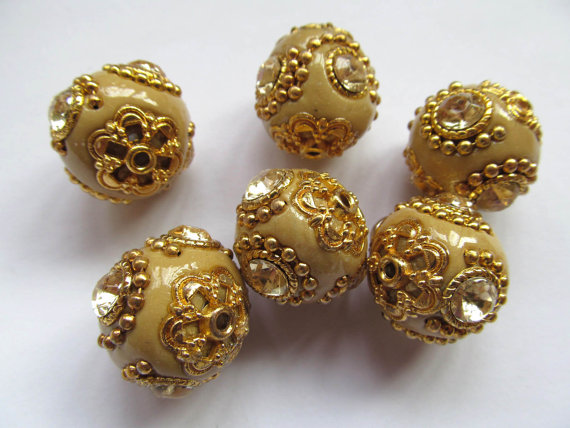 fashion 18mm 100pcs handmade round clay &crystal ball kashmiri polymer with brass oranger yellow turqoise mixed jewelry beads wholesale bulk 20mm 100pcs handmade round clay