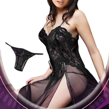 Mulheres de Lingerie Sexy Hot Plus Size lingerie de Renda Erótico Sheer Elegant Lady lingerie Pijamas Vestido Sexy Lingerie + G Cordas Set