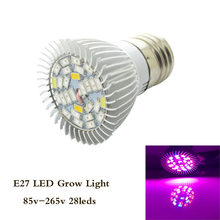 1pcs E27 18W 28W Led Grow Light full spectrum AC85-265V Leds Hydroponic LED Plant Indor Grow Lights LED Bulb LED Growth Lamp(China)