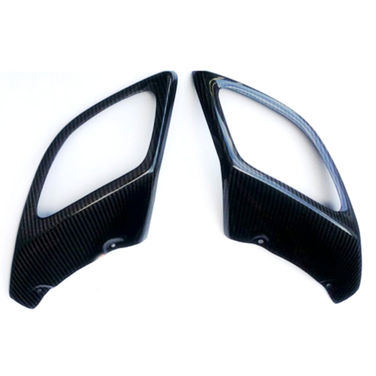 2pcs Carbon Fiber Rear Body Kits Exhaust Muffler Tips Modification Cover For Buick Regal GS 2009 2016 in Bumpers from Automobiles Motorcycles