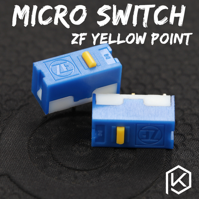 zf 5pcs Free shiping gold point Micro Switch Microswitch  for Mouse service life 6000W gaming micro switch DGBE FL60