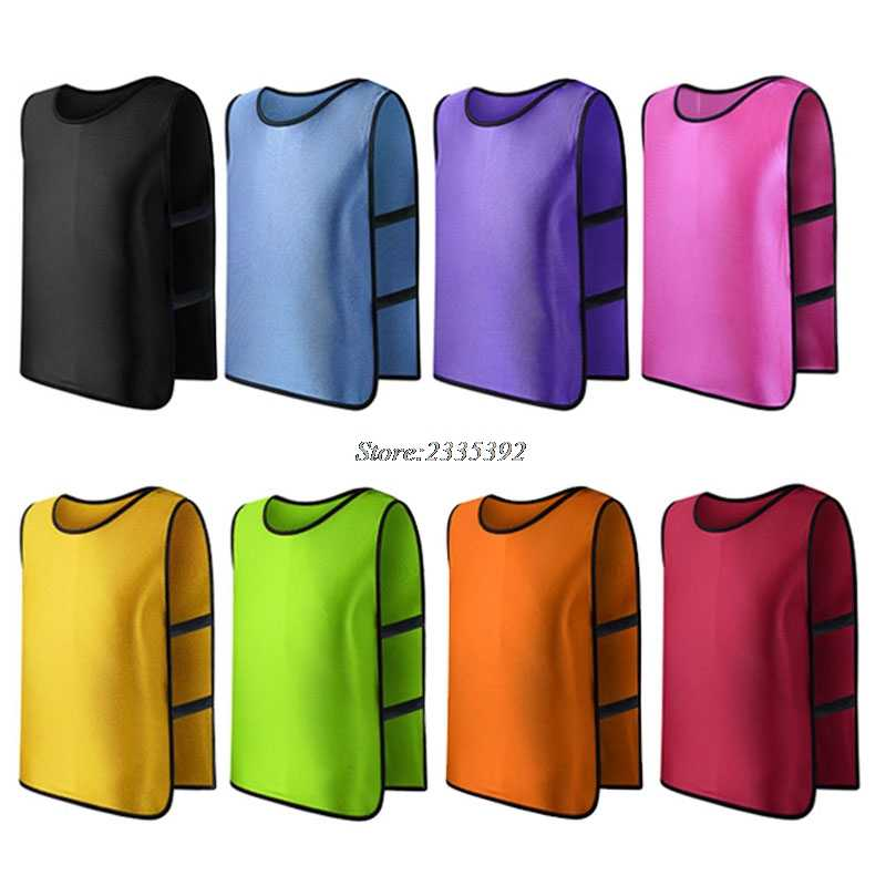 Team Training Scrimmage Vests Soccer Basketball Youth Adult Pinnies Jerseys New