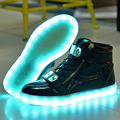 Plus Size 36-44 Men Shoes  USB Charging LED Light Shoes 7 Colors Fashion Casual Led Light Flats Shoes Lumineuse Lovers Shoes