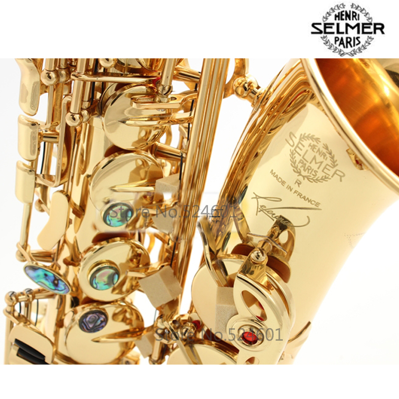 Selma 54 Brand Alto Saxophone Eb Sax Musical Instrument Electrophoresis Gold Professional Grade Gold Lacquer Alto Sax Mouthpiece free shipping xc3020 7pc68i new original and goods in stock