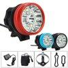 45000LM 13x XML T6 Led Bicycle Cycling Head Light Bike Torch Lamp 6x18650 Battery Headband