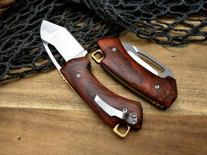 Image 3 - LCM66 D2 staal Vouwen Mes, Rode schaduw hout Survival Messen, Zeer sharp Mini Rescue Zakmes, gift Sleutel mes Gereedschap
