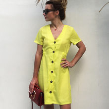 209ee26da5c4 Popular Yellow Sundress for Women-Buy Cheap Yellow Sundress for ...