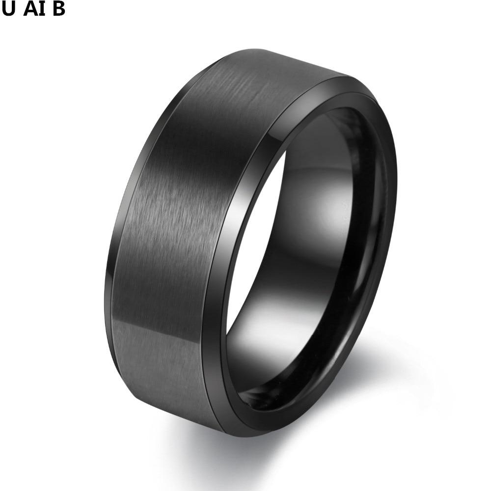 8MM Wedding Black Tungsten Ring Very Nice Wedding Band Tungsten Carbide Ring Wedding Jewelry ...