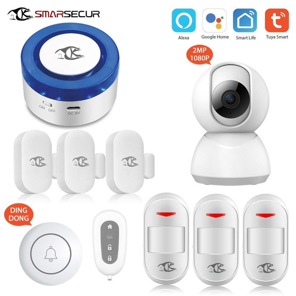 WiFi Wireless Siren Home Security WiFi Alarm Smart Siren Tuya Compatible With Alexa/Google Home