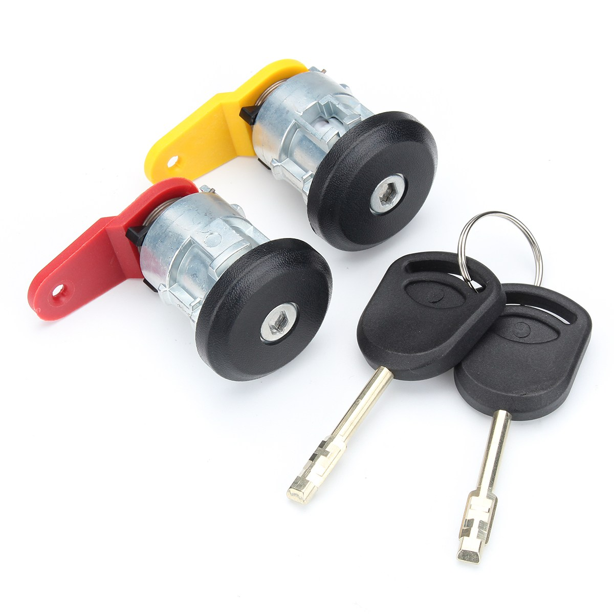 Car Door Lock Complete Set With 2 Keys Front Right Left For Ford
