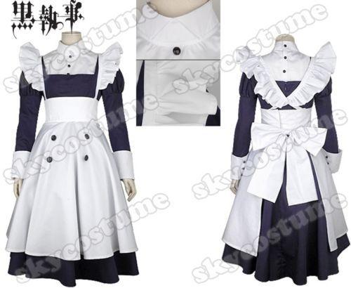 Black Butler Cosplay Kuroshitsuji Maylene Women Maid Dress Uniform Anime Halloween Party Cosplay Costume Free Shipping