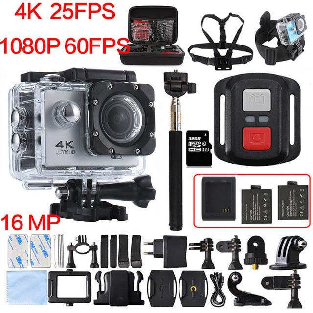 F60 f60r 4 k 30pfs câmera 16mp wi-fi 4 k yi 1080 p 60pfs 2 polegada action camera 30 m ir cam pro hero 4 subaquática à prova d' água câmera