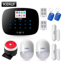 KERUI G19 Android IOS APP 433MHz TFT color Screen GSM Alarm System SIM Card Phone call sms Alarm Security door open remind