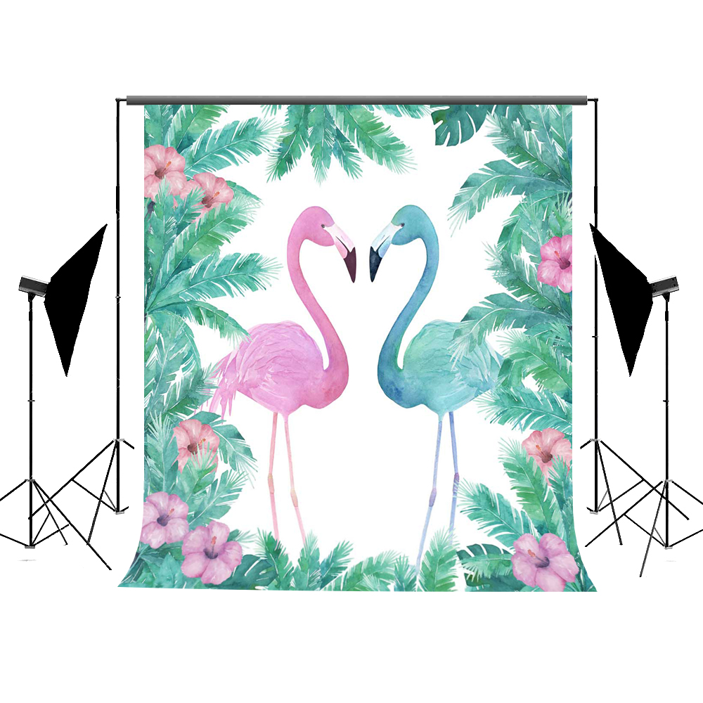 5x7ft Kate Flamingo Newborn Photography Studio Children Baby Birthday Backdrop Custom Cotton Washable Photo Booth Backdrop kate newborn birthday photography