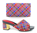 5 diferentes cores disponíveis moda sapato combinando Italiana e saco conjunto para o casamento e festa Africano saltos das senhoras chinelo HX1-2